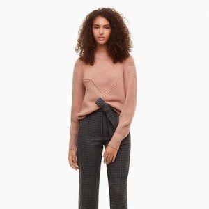 Aritzia Wilfred Serment 100% Wool Sweater in Blush